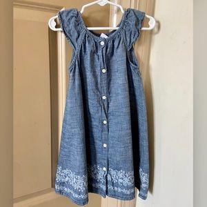 Gap Button Down Denim Dress for girls